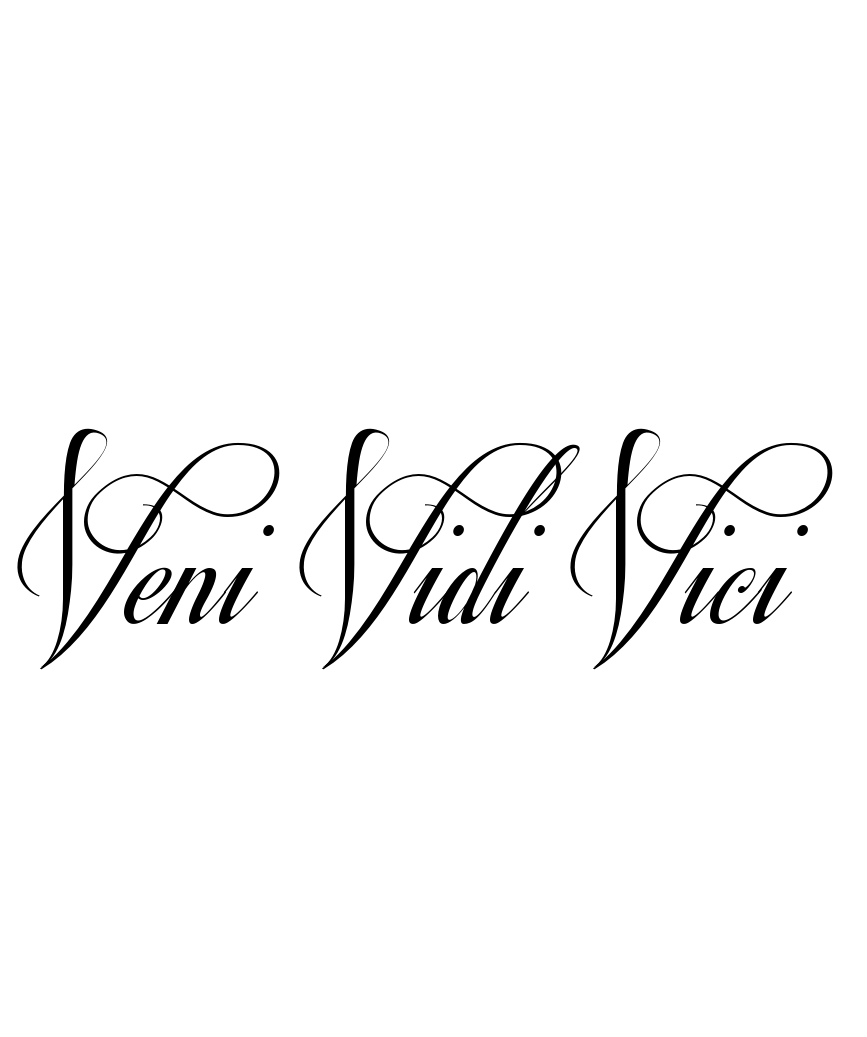tattoo idea veni vidi vici i came i saw i. Black Bedroom Furniture Sets. Home Design Ideas