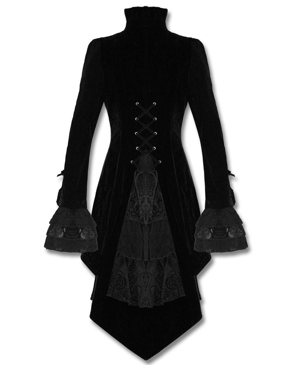 Goth Vampire Victorian Coat - Jackets & Outerwear