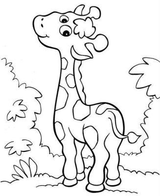 Such A Cute Giraffe Jamie Would Love This Paginas Para Colorir