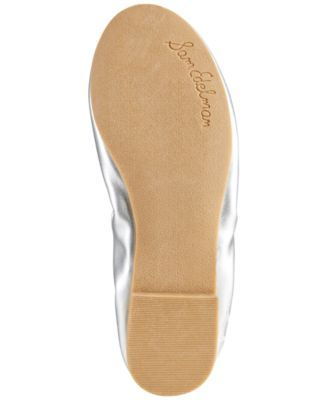 Sam Edelman Felicia Ballet Flats, Little Girls (11-3) & Big Girls (3.5-7) - Silver 12