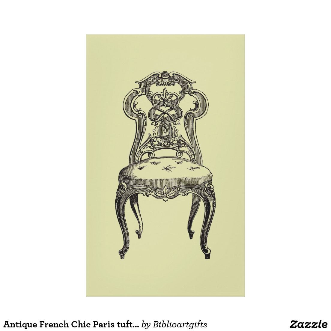 Antique French Chic Paris tufted chairs wall decor | WALL ART DECOR ...