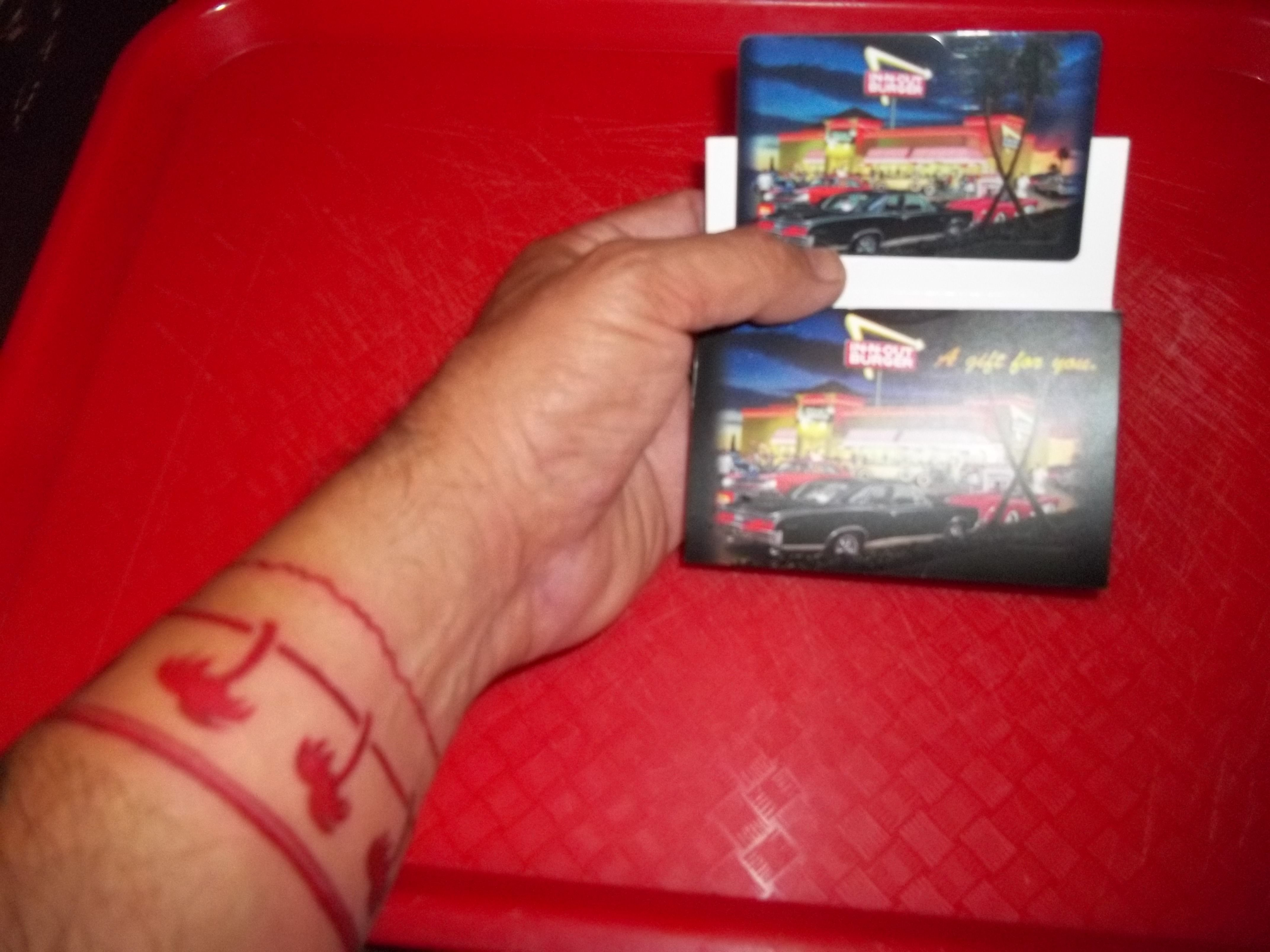 Thank you my friends & family, for the many In-N-Out gift cards ...