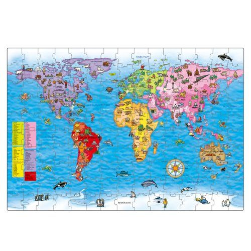Orchard toys world map puzzle and poster amazon toys games orchard toys world map puzzle and poster amazon toys gumiabroncs Images