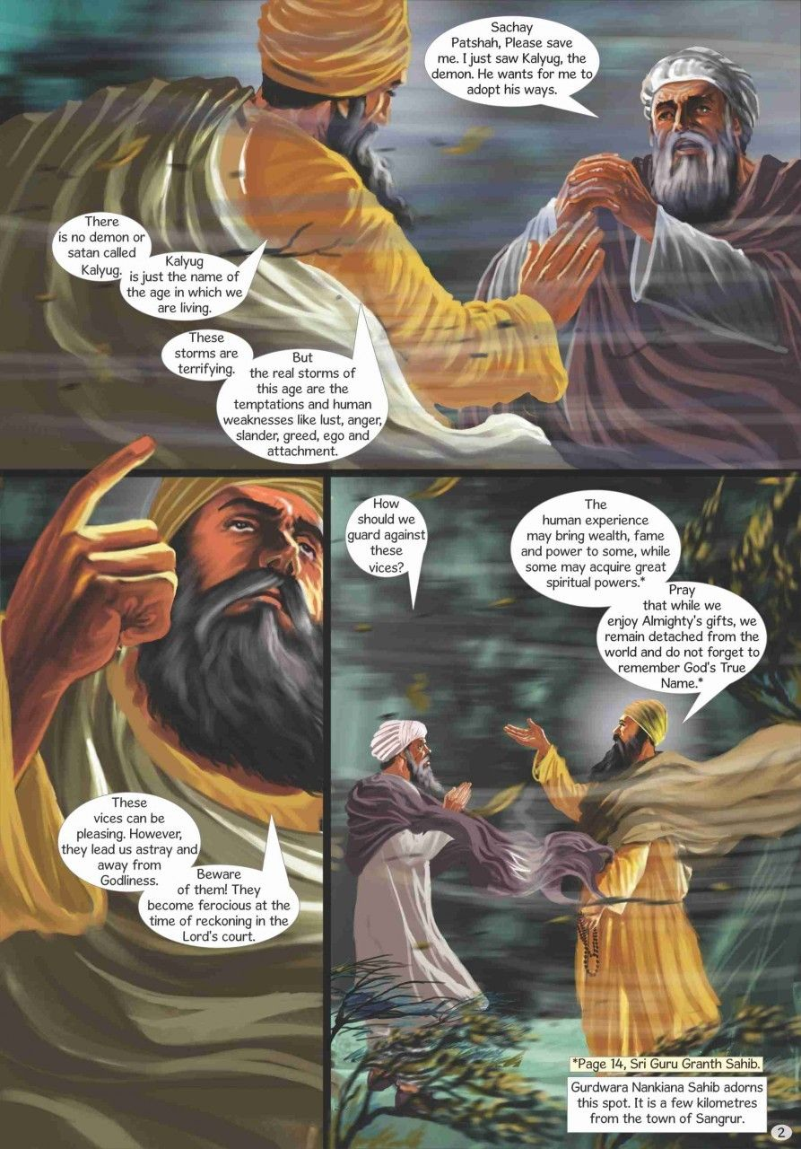 Guru Nanak - The First Sikh Guru, Volume 4 (English Graphic