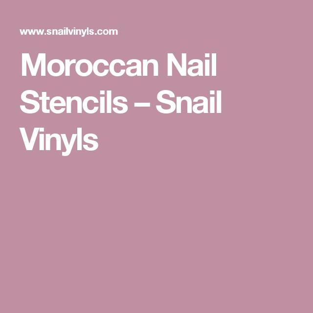 Moroccan Nail Stencils – Snail Vinyls