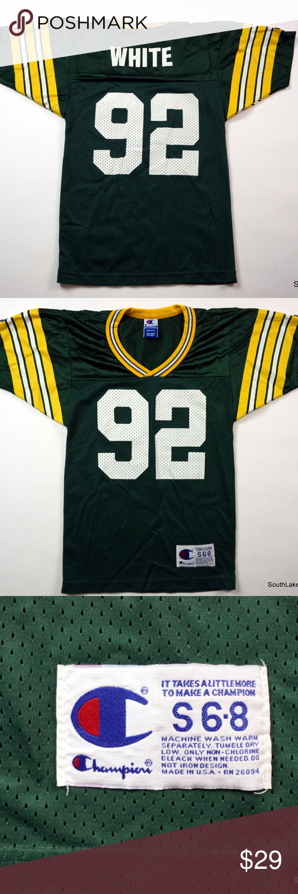 the best attitude aa42e 09ad2 VTG Green Bay Packers Reggie White Jersey #92 VTG Champion ...