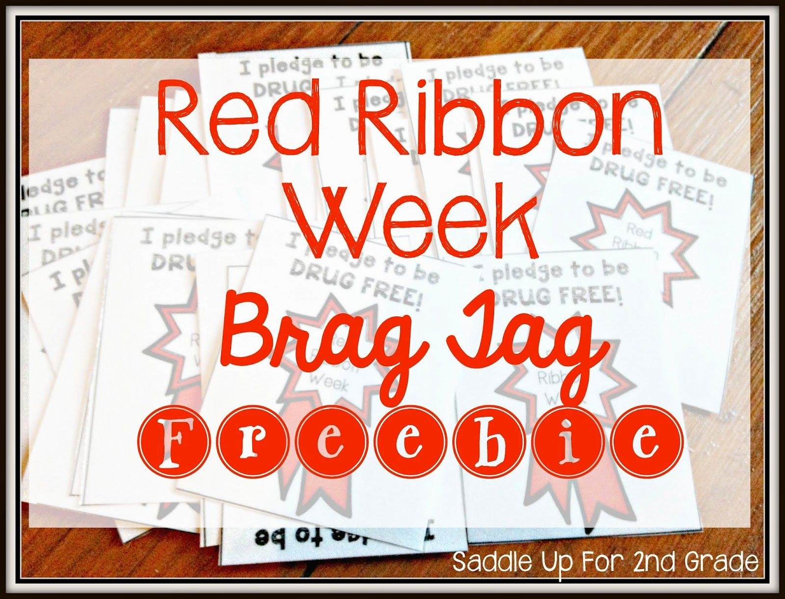 Red Ribbon Week Brag Tag Freebie Red Ribbon Week Red Ribbon Brag Tags [ 1222 x 1600 Pixel ]