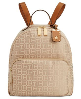 Tommy Hilfiger Julia Monogram Jacquard Dome Backpack, A Macy's Exclusive Style | macys.com