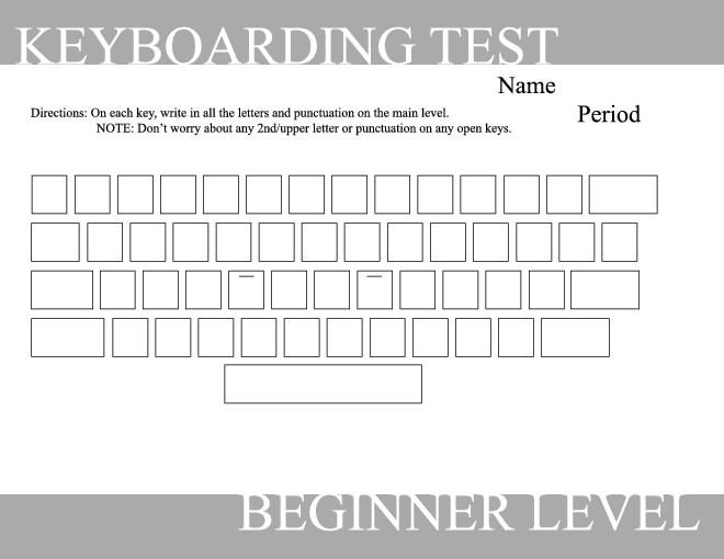 Blank typing keyboard worksheet keyboard pinterest typing keyboarding test a simple effective test to see if typing students know their keyboard by memory 2 test levels available beginner yadclub Choice Image