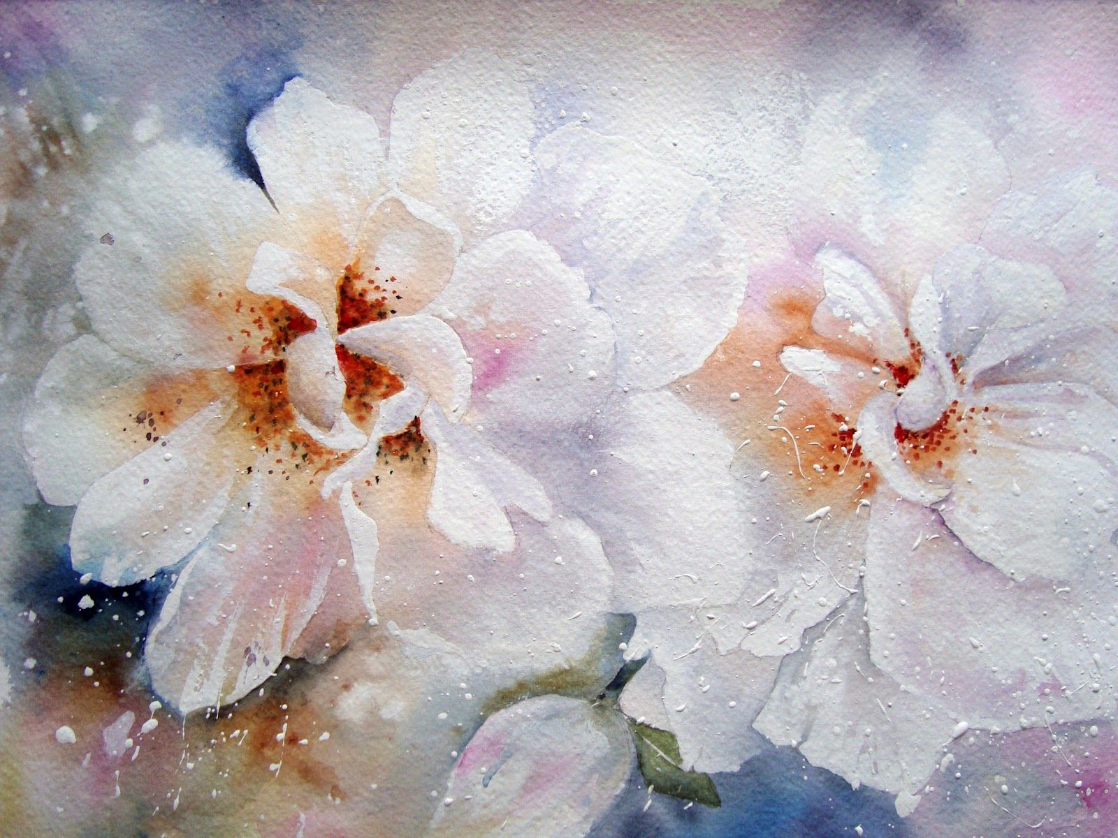 Hydrangea Floral Watercolor Flower Painting Flower Art