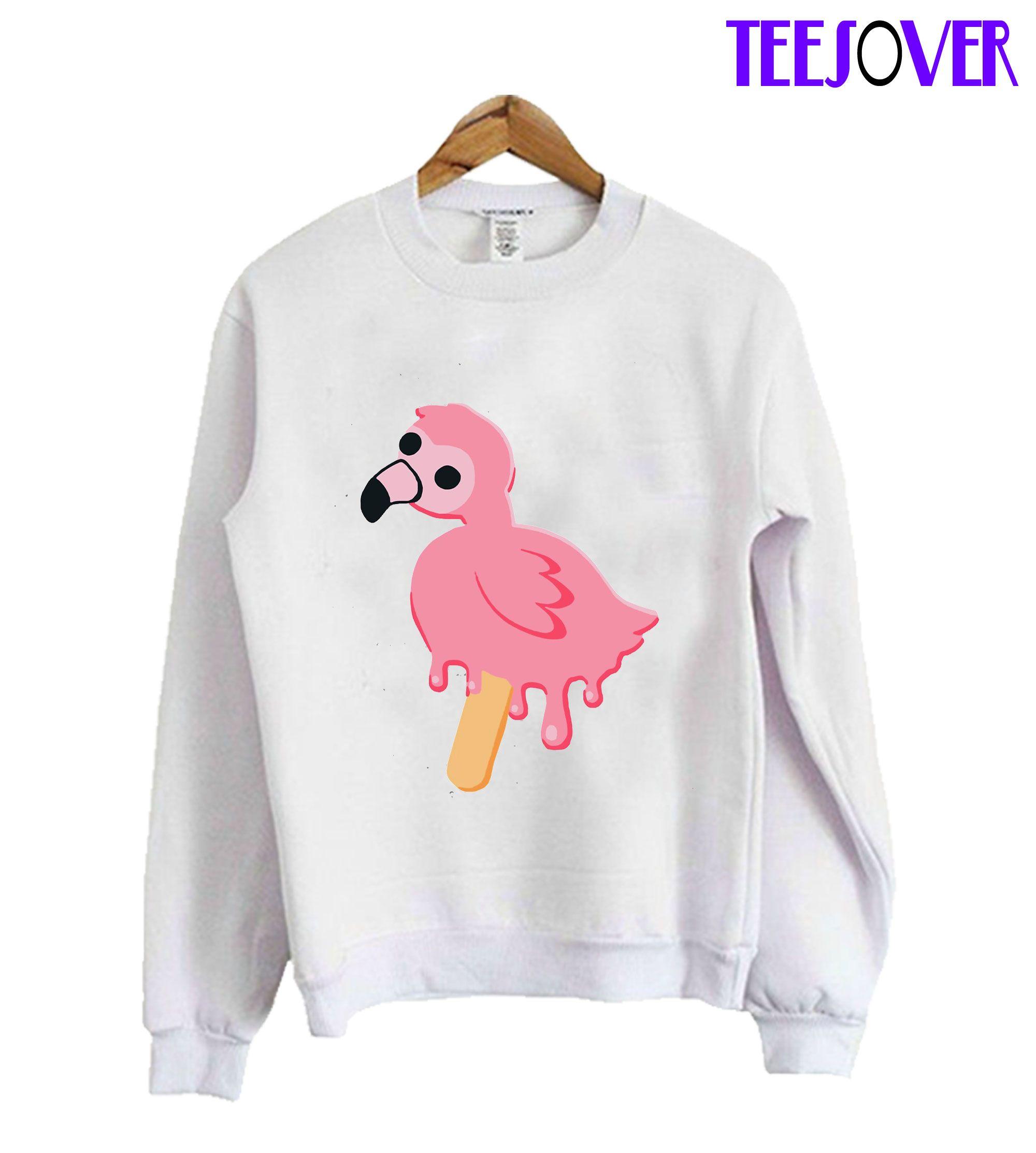 Albert Flamingo Melting Pop Mrflimflam Sweatshirt Sweatshirts Sweatshirt Fashion Print Clothes [ 2226 x 2000 Pixel ]