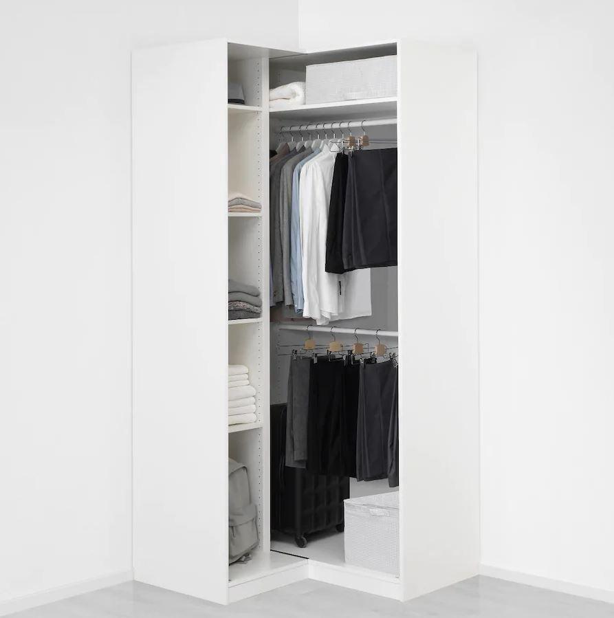 Pax Eckkleiderschrank Weiss Grimo Weiss Ikea Deutschland Eckkleiderschrank Kleiderschrank Design Schrankentwurf