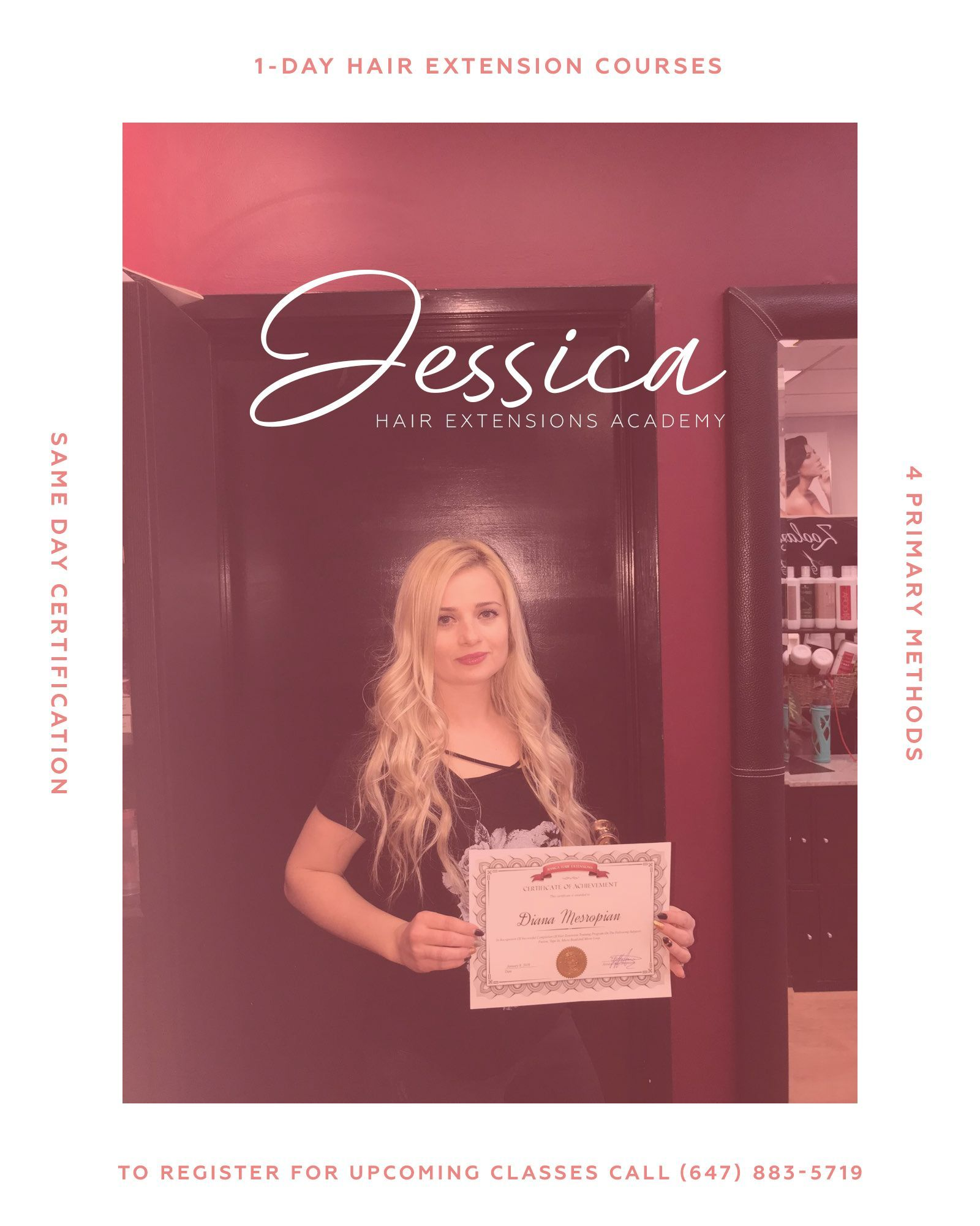 Call JessicaHairExtensions for HairExtensionTraining