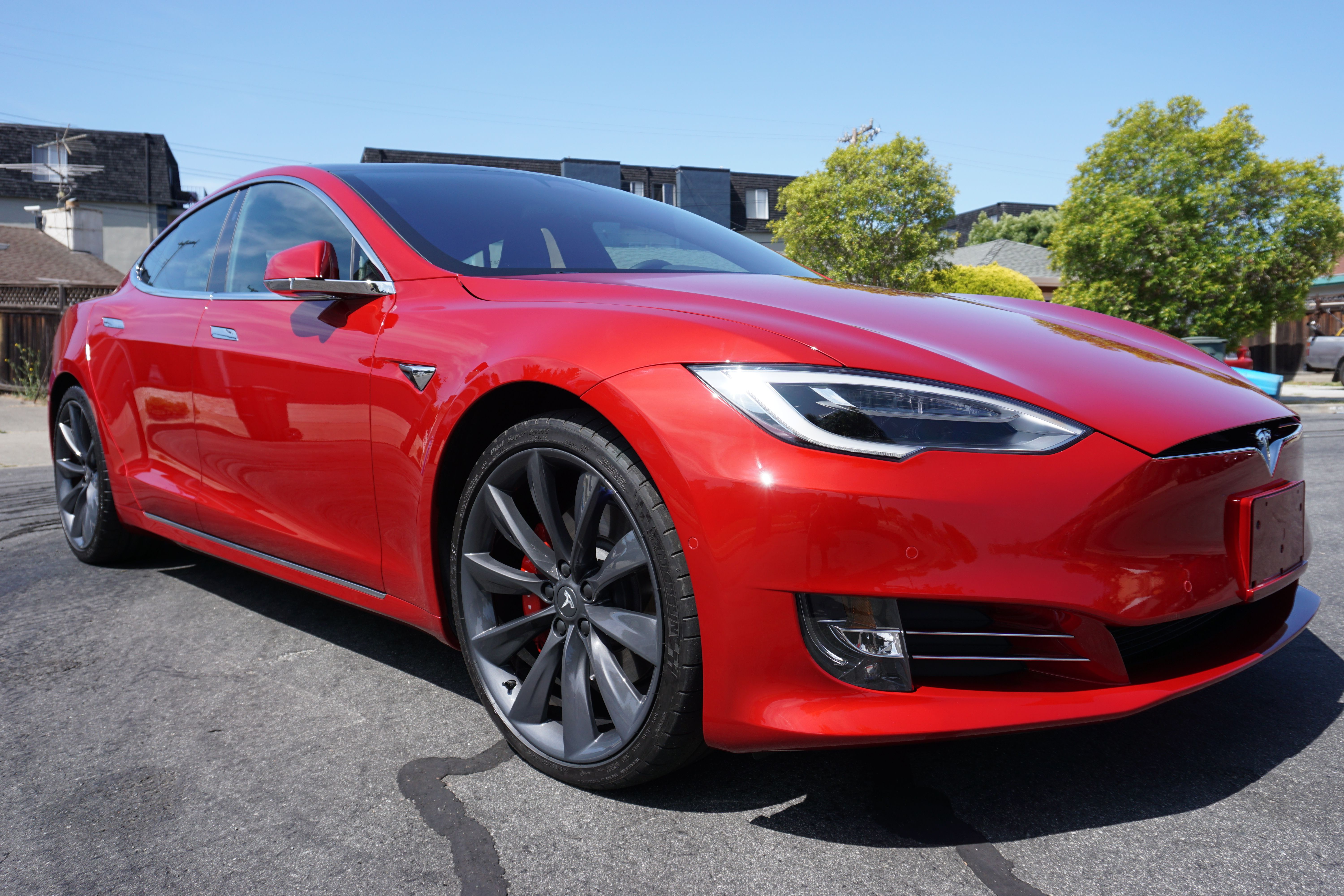 39 18 tesla model s p100dl paint correction and ceramic. Black Bedroom Furniture Sets. Home Design Ideas