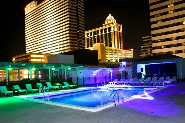 Atlantic City Accommodations Atlantic City Resorts Pool At Night City Suites