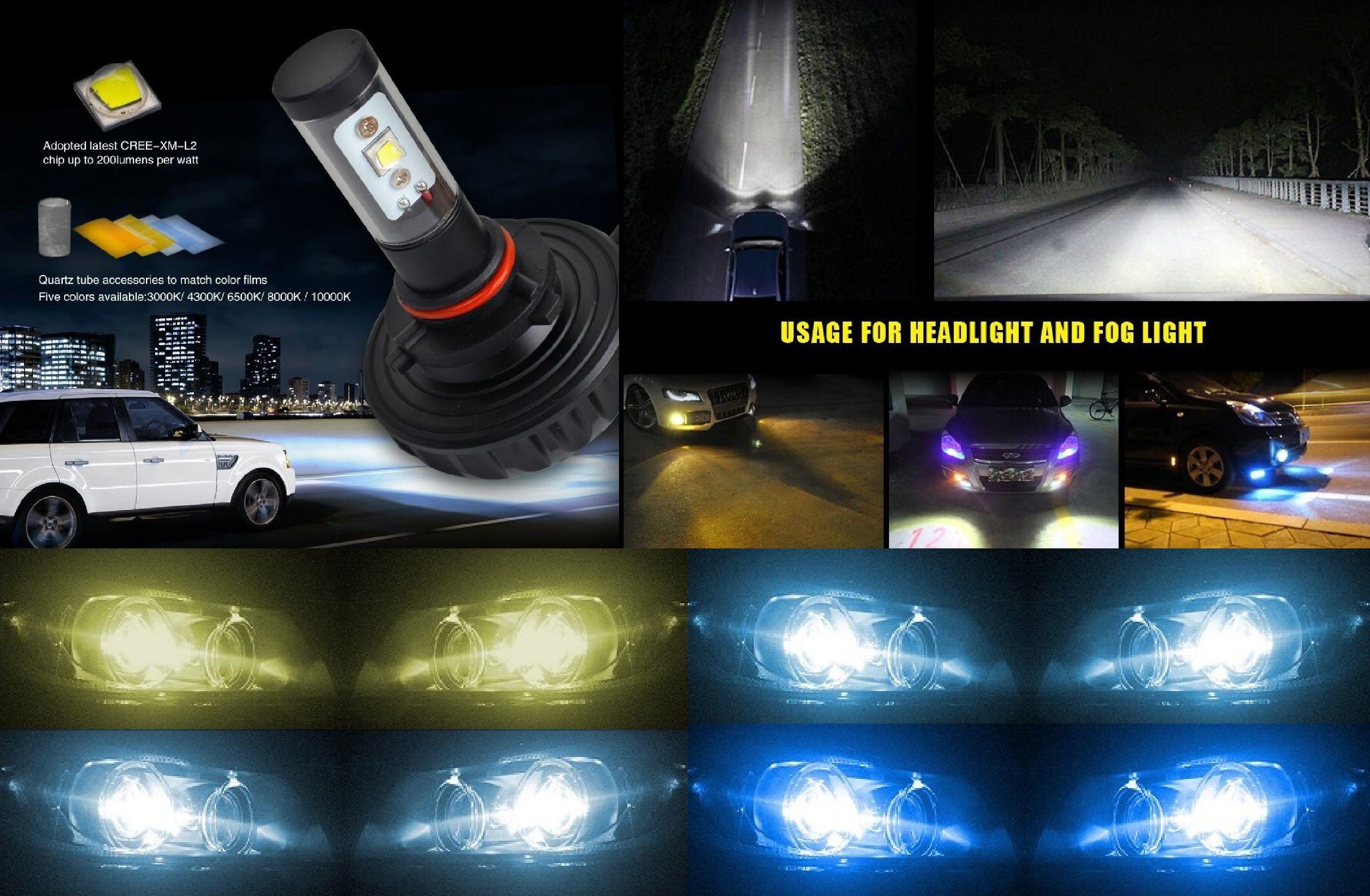 Led Bulb 3s Kit Head Light Fog 20w 4400 Lumen 30w 6000 Lumen Upgrade Replace Test Review Led Fog Lights Led Bulb Cree Led