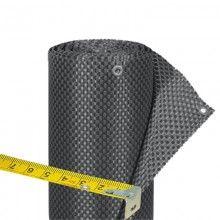 Balkonverkleidung Kunststoffgeflecht Titangrau Meterware