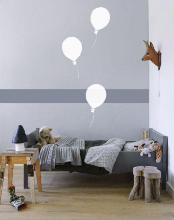 Ideas divertidas para pintar habitaciones infantiles Habitacin