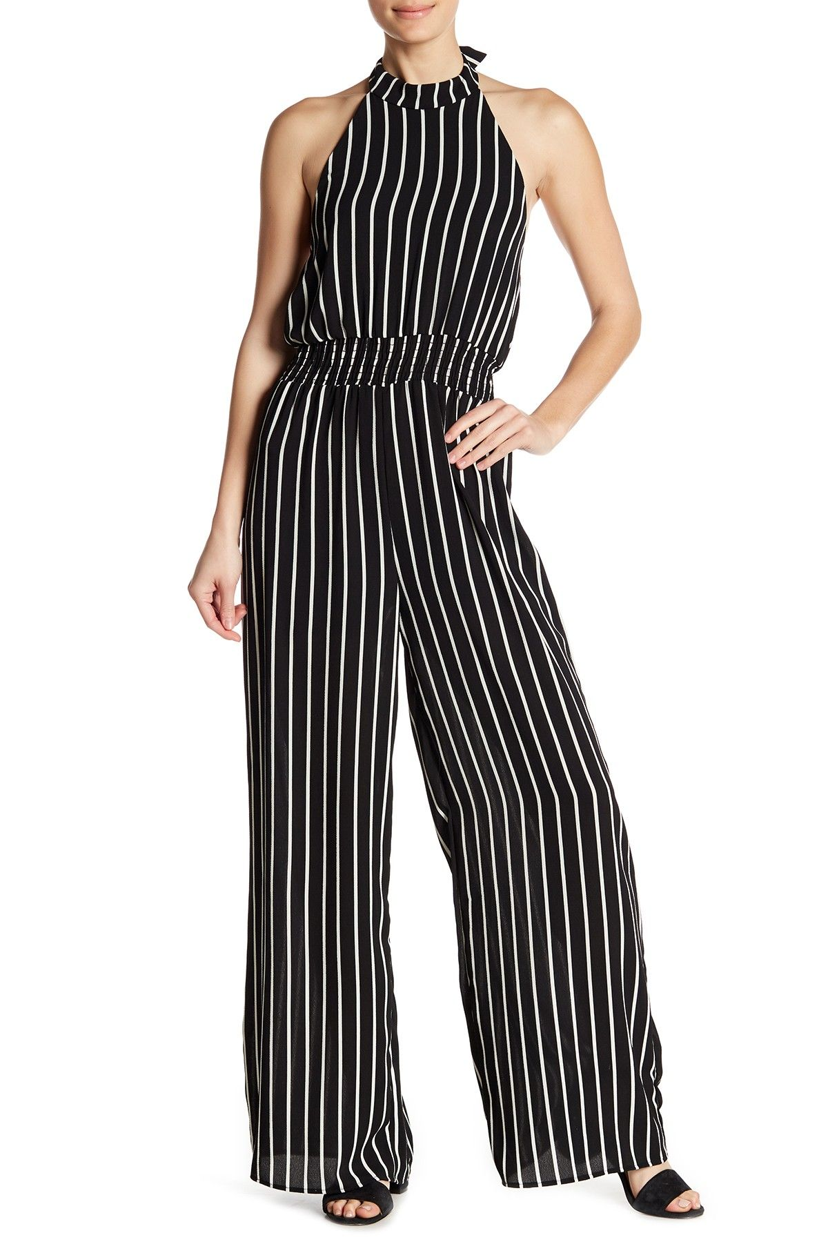 2dceacb7aae Striped Halter Jumpsuit by SUPERFOXX on  nordstrom rack