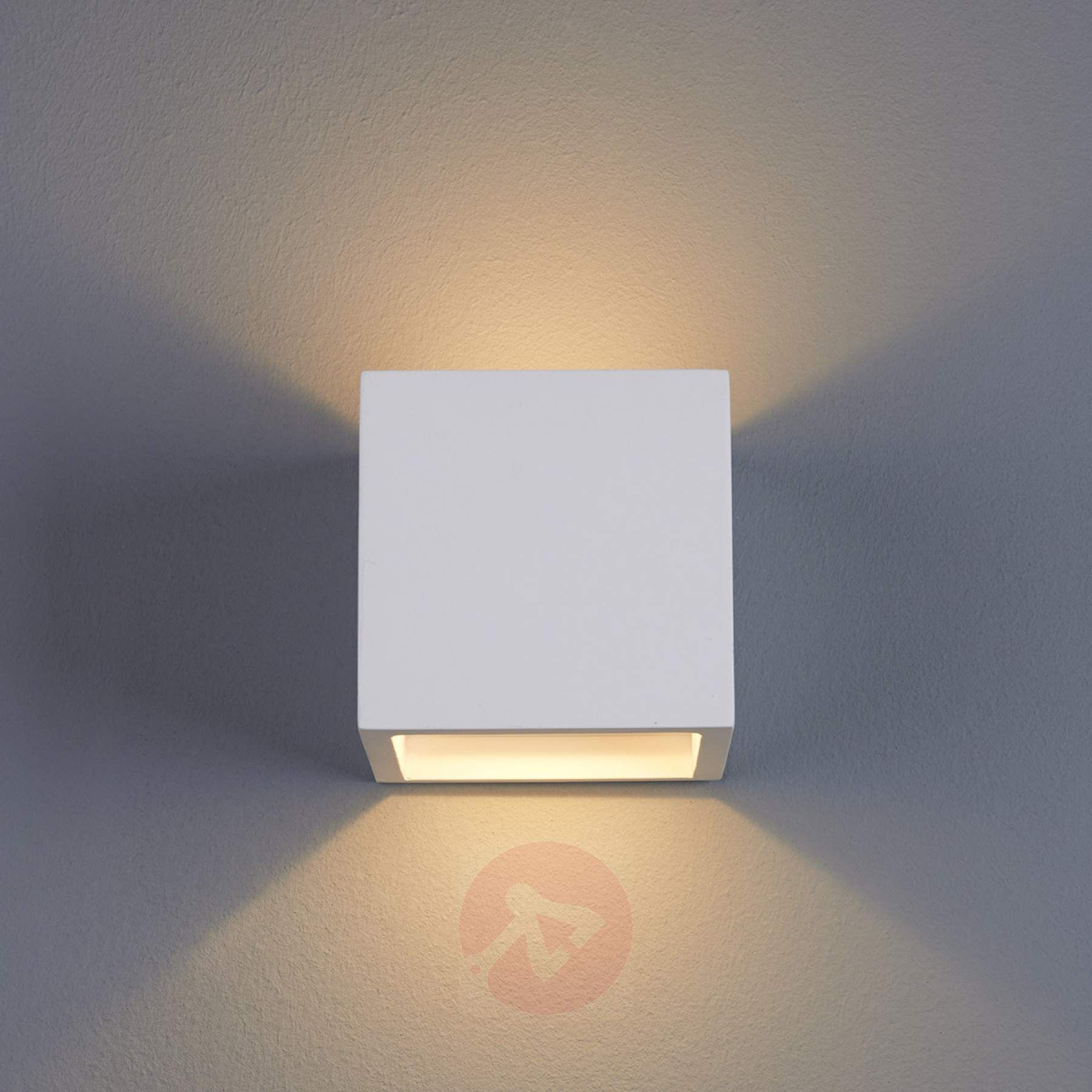 Marita Led Wall Light Cube Shaped Plaster 9613038 01 Bina Patel In 2019 Led Wall Lights Wall Lights Plaster