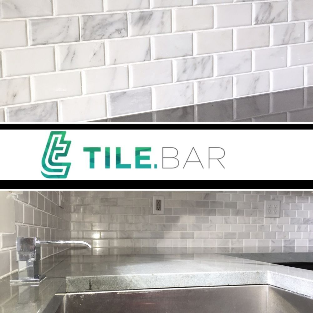 White subway tile 2x4 beveled brick carrara mosaic bathroom white subway tile 2x4 beveled brick carrara mosaic bathroom kitchen backsplash dailygadgetfo Gallery
