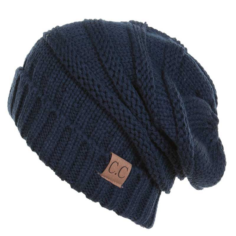 ffc5d8ac289 C.C. Exclusives Slouchy Beanie in Navy