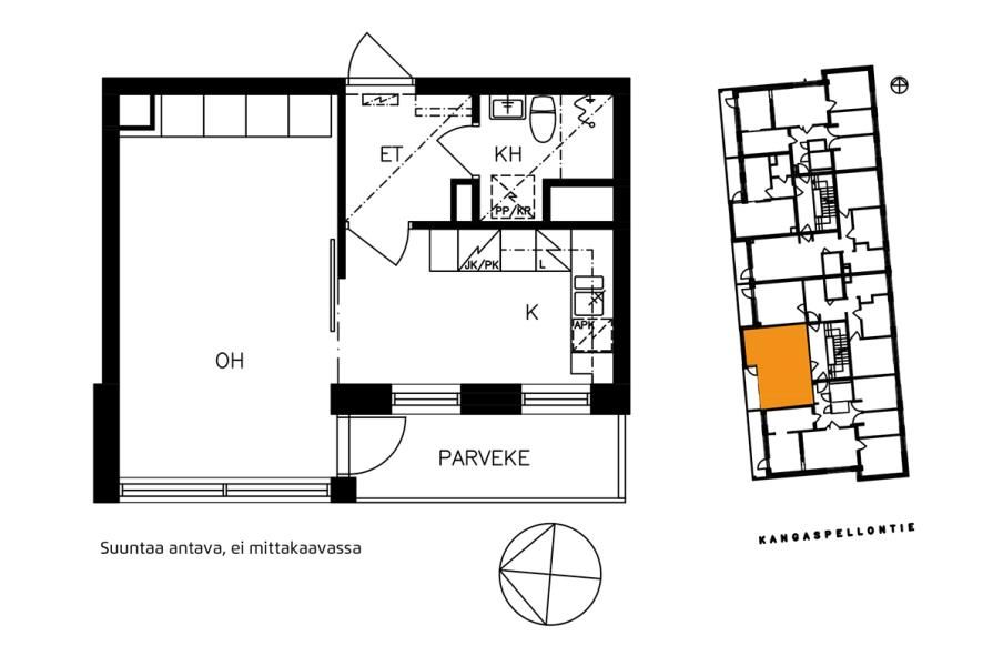 Kangaspellontie, Etelä-Haaga, Helsinki, 1h+k 32 m², SATO vuokra-asunto