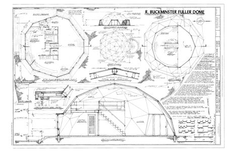 The Working Drawings For Buckminster Fuller S Own Home