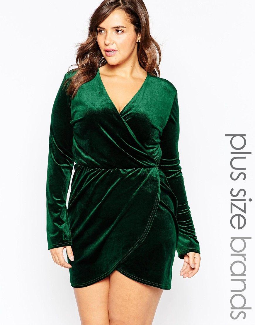 941935ec14f0 Club L Plus Size Aysemmetric Wrap Dress In Velvet