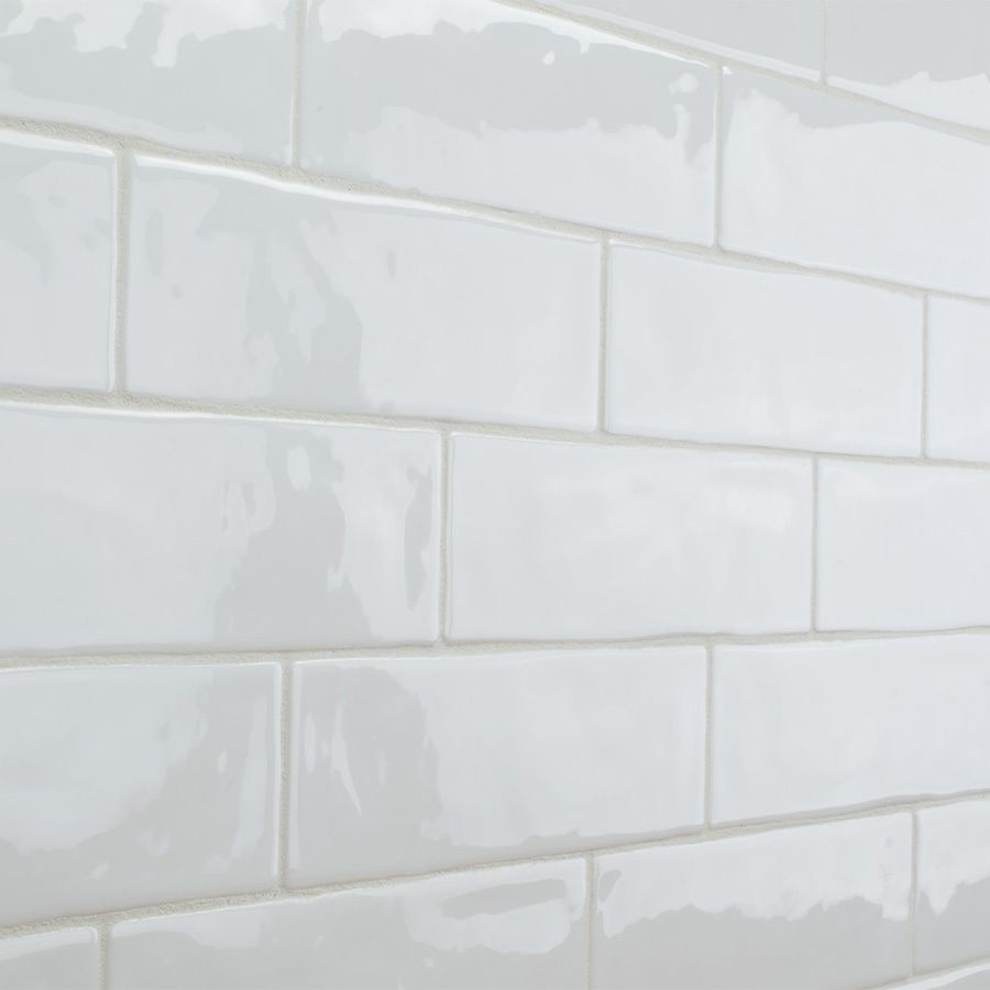 Elida Ceramica Hand Crafted White Subway Ceramic Wall Tile ...