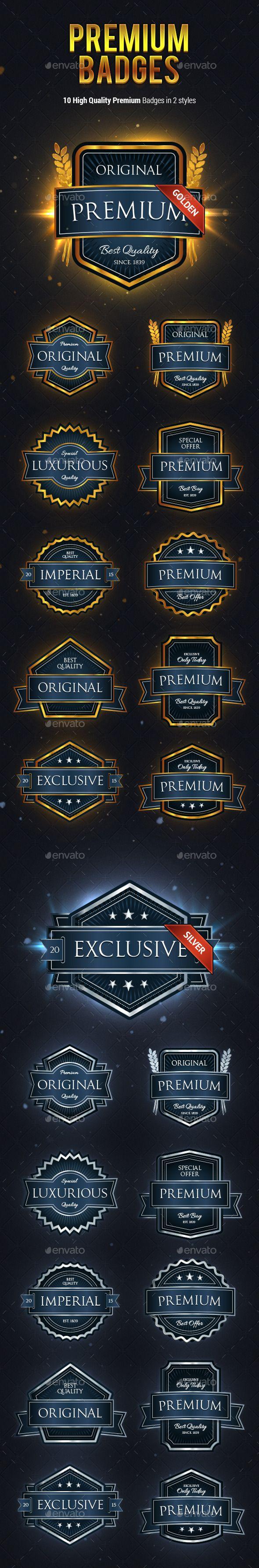 10 High Quality Premium Badges