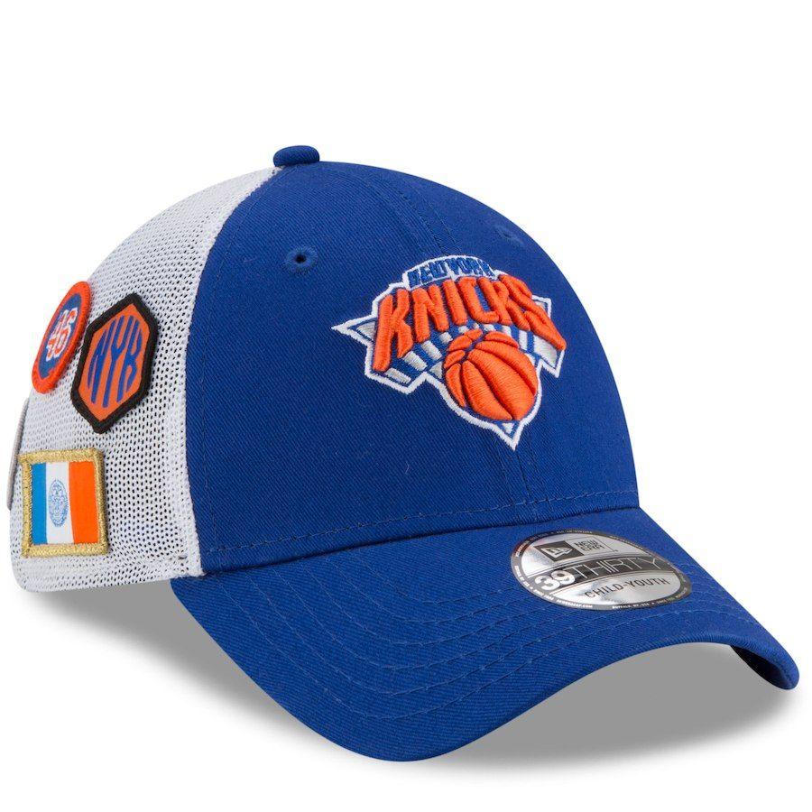 061045787bcd5 Youth New York Knicks New Era Royal 2018 Draft 39THIRTY Flex Hat ...