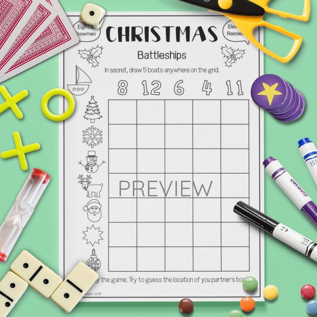 Christmas Battleships Game