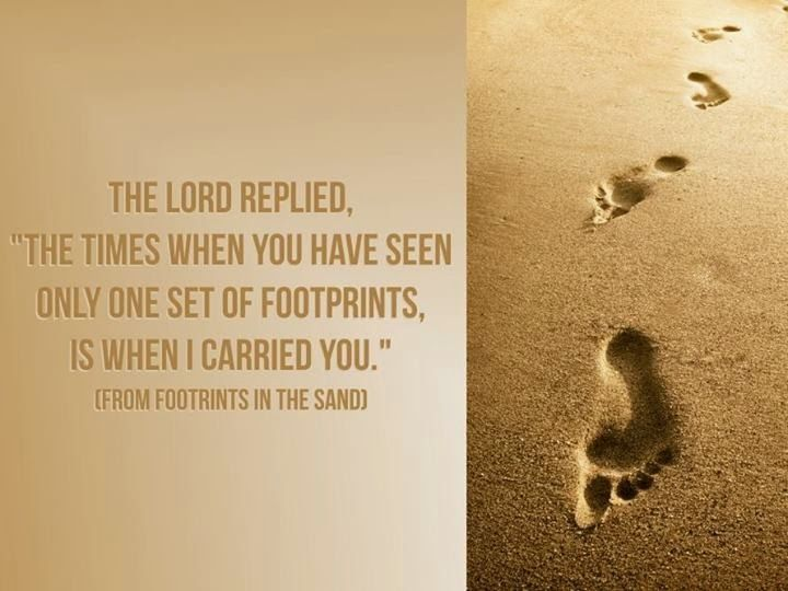 Walk by faith and not by sight, footprints in the sand... via BetterCurly by Madz Madaje