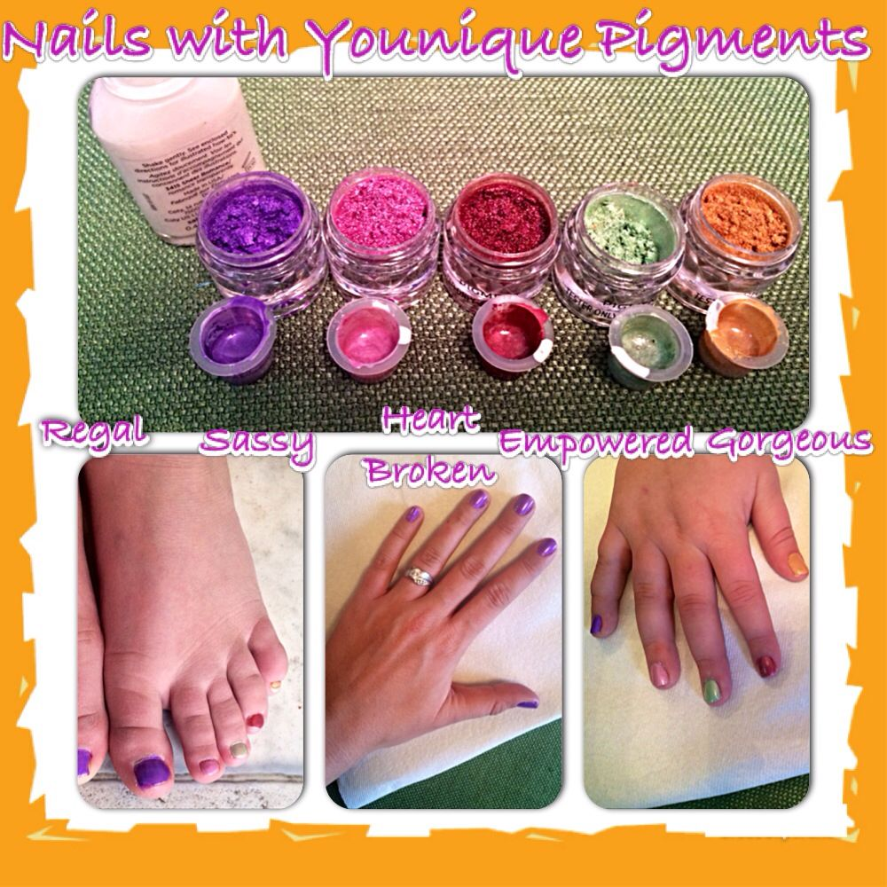 Custom nail polish party for my daughter with Younique pigments ...