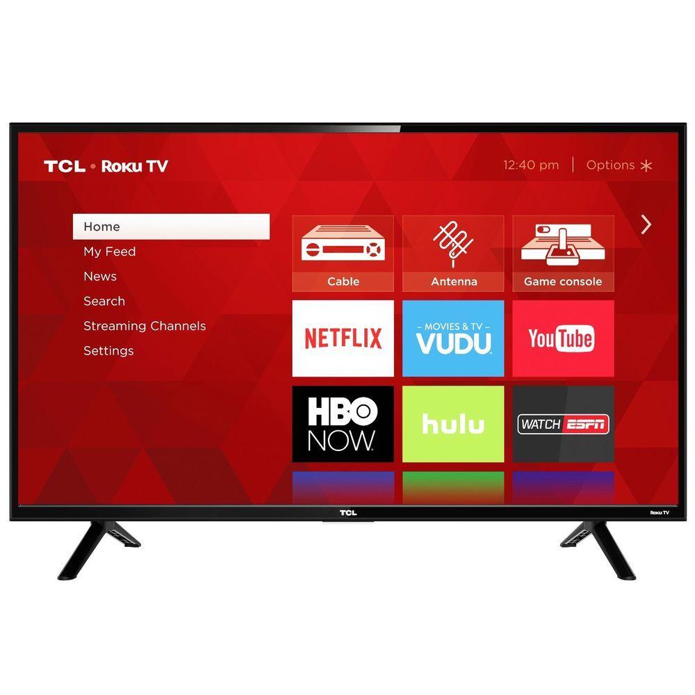 SMART LED TV Refurbished 32In Class HD ROKU 720P USB Remote Built