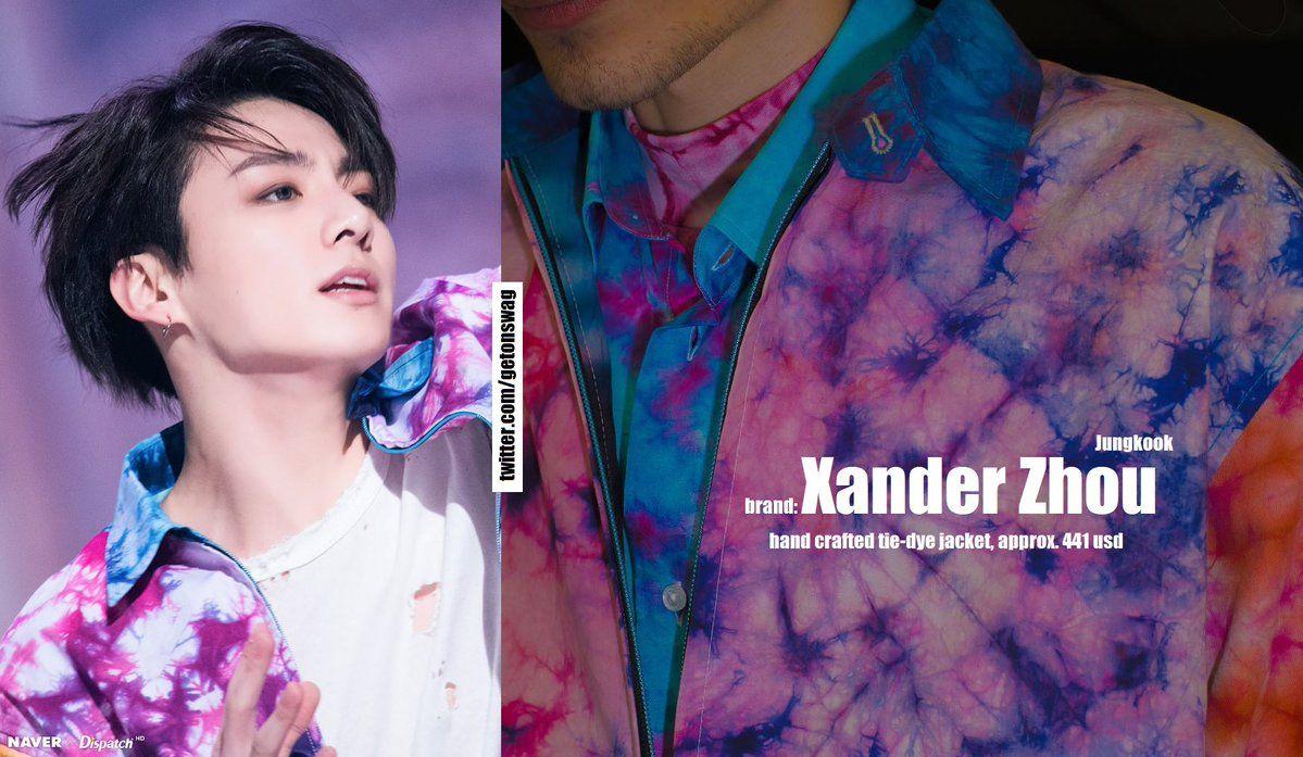 a69615d2a4b 180518 fake love mv [ JUNGKOOK #BTS #JUNGKOOK #정국 #방탄소년단 ] XANDER ZHOU -  hand crafted fabric tie-dye jacket s/s 2018pic.twitter.com/kBDSt23H31
