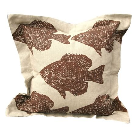 I pinned this Fish Pillow in Brown on Natural from the Lowcountry Linens event at Joss and Main!