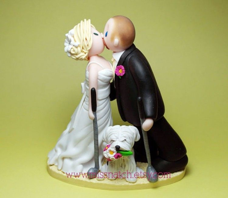 Golf Lover Kissing Couple Wedding Cake Topper Picture in Wedding ...