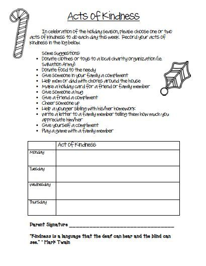 free acts of kindness worksheet holidays seasonal ideas resources elementary counseling. Black Bedroom Furniture Sets. Home Design Ideas