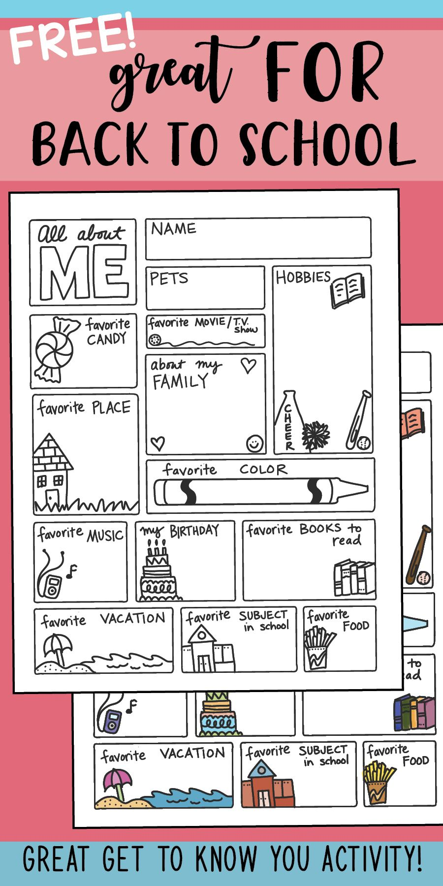 All About ME FREEBIE by Science & Math Doodles #backtoschool