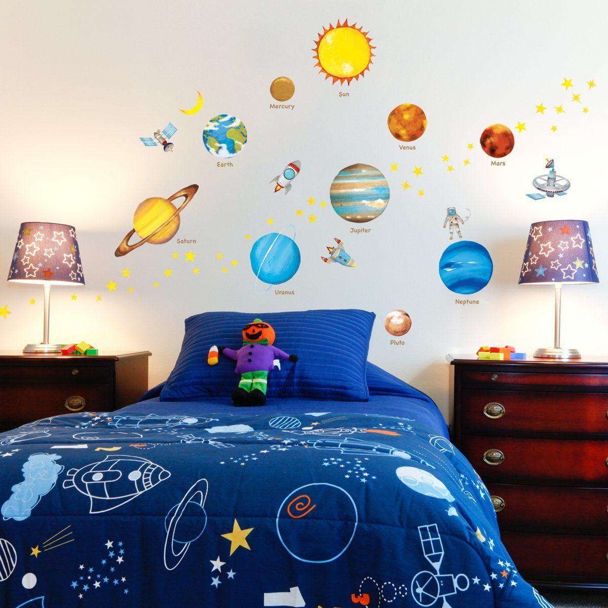 werbung sonnensystem planeten platz weltraum wandtattoo wandsticker wandaufkleber wanddeko. Black Bedroom Furniture Sets. Home Design Ideas