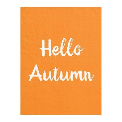 HELLO AUTUMN Fleece Blanket | Zazzle.com #helloautumn