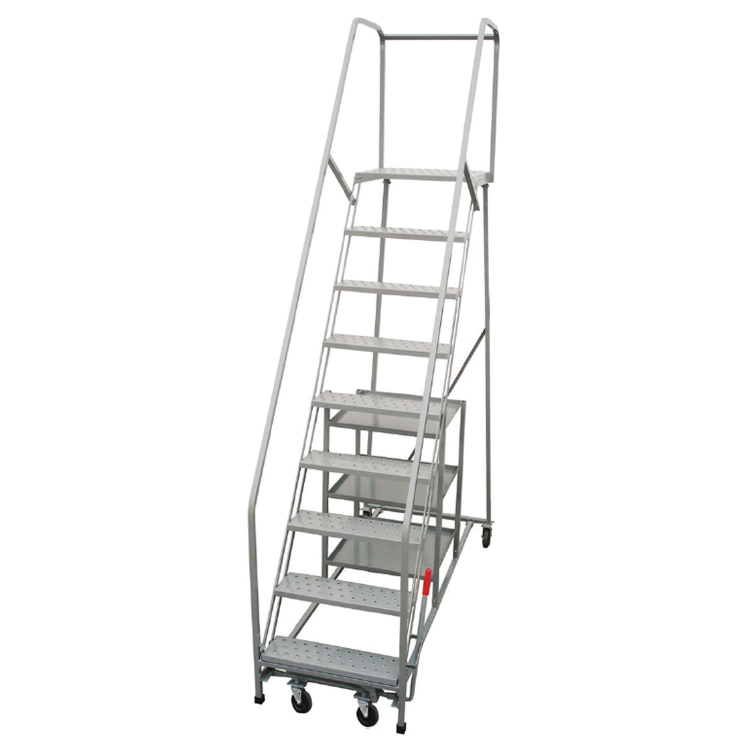 Ladders Stock Pickers P W Platforms 11 Step Steel Rolling Stock Picker Ladder 24 Step Width Sp11sh30w21 B2058214 Globalindustrial Com Ladder Home