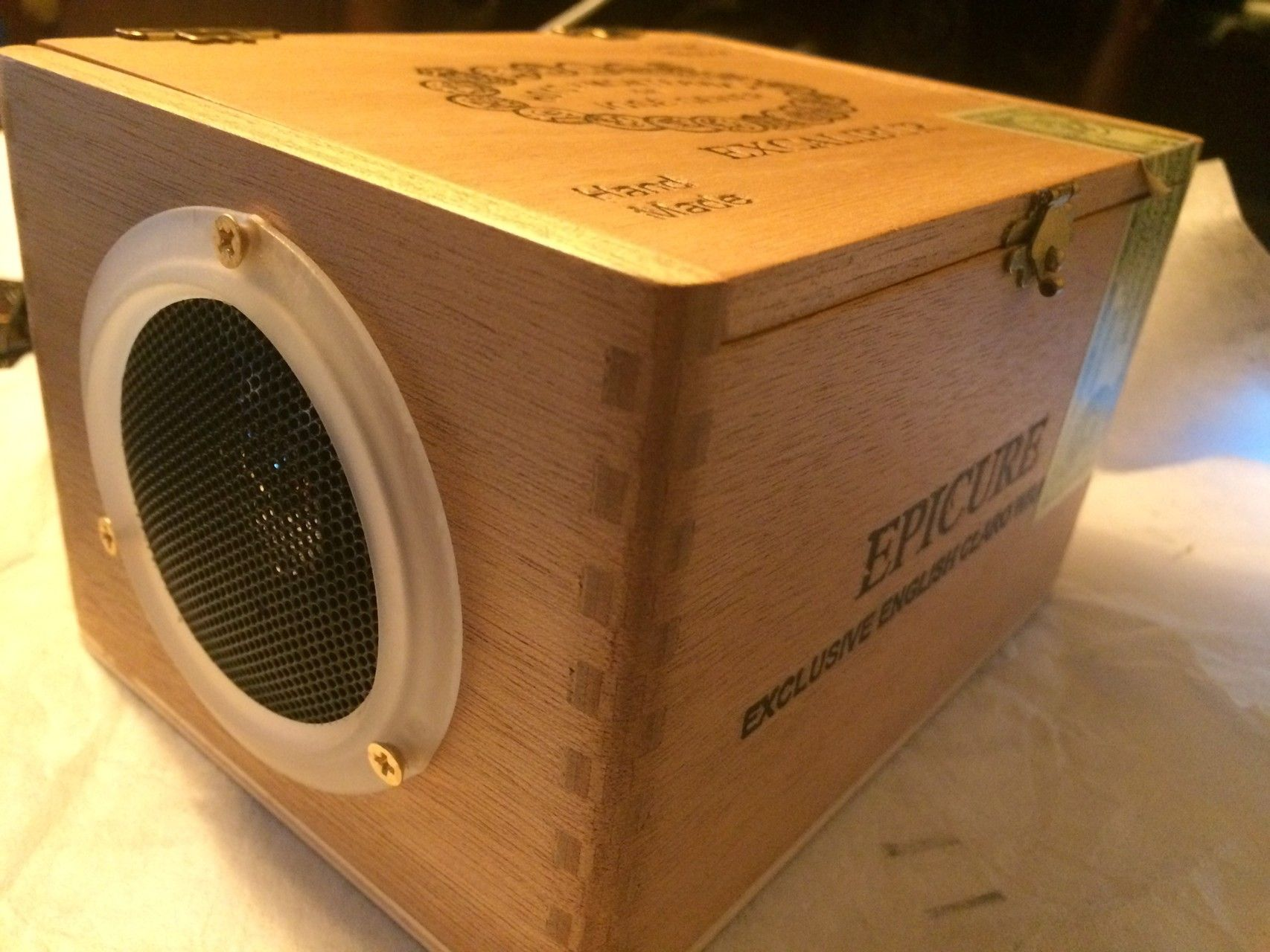 4 cigar box speaker system diy fully customizable with different boxes porting baffles. Black Bedroom Furniture Sets. Home Design Ideas