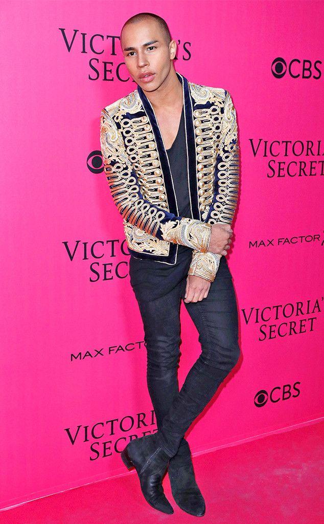 Olivier Rousteing From Victoria S Secret Fashion Show 2016 Pink Carpet Arrivals Victoria Secret Fashion Show Fashion Show 2016 African Men Fashion