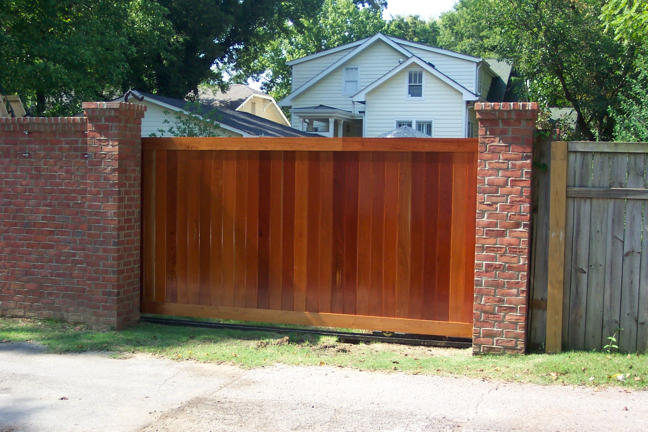 wood driveway gate for the yard pinterest driveways woods