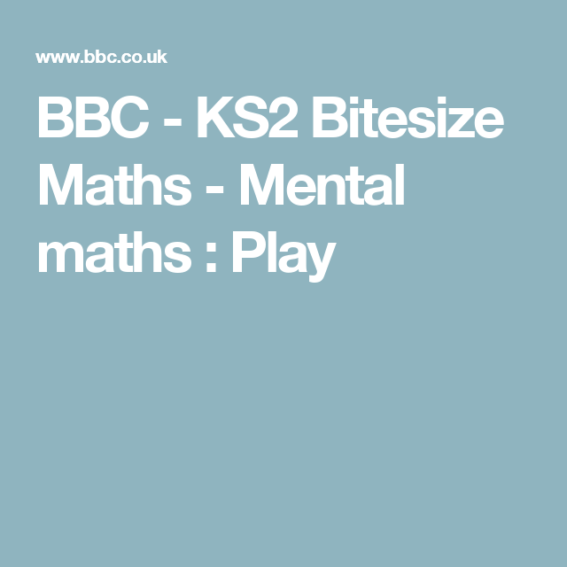 Bbc Bitesize Maths Worksheets Ks2 - bbc ks2 bitesize maths hs math ...