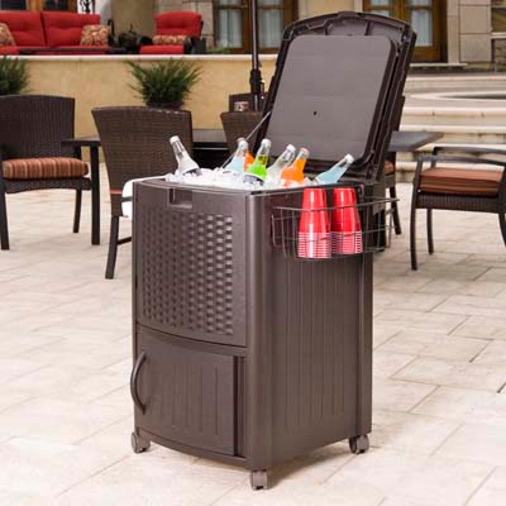 New Wicker Furniture Patio Cooler Deck Drink Beverage