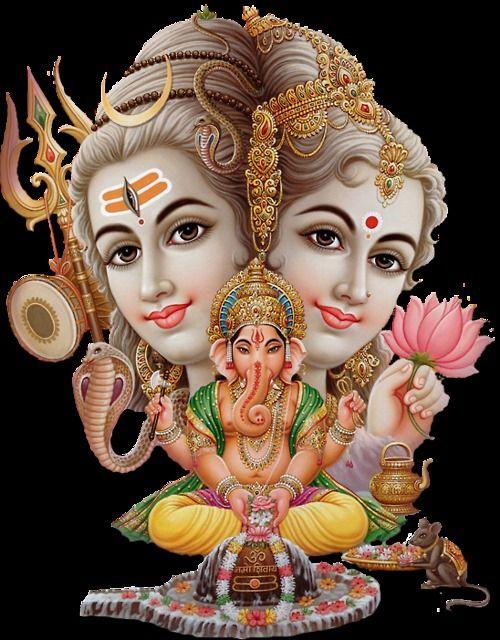 Shiva Parvati And Ganesha The Holy Family Of The Shaivite